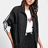 SheIn Striped Windbreaker Jacket