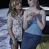 Sookie and Jessica share roadside words. Jessica is a sweet stylin' vamp, while Sookie's style is always Southern girlie.