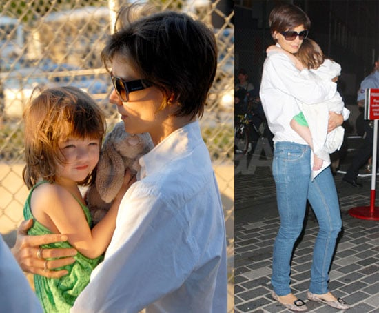 Photos of Katie Holmes and Suri Cruise Visiting Chelsea Piers Playground in NYC