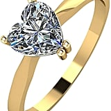 Moissanite 9ct Gold 1 Carat Heart Solitaire Ring