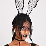 PrettyLittleThing Black Lace Veil Bunny Ears
