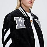 Off-White Black / White Diagonal Corduroy Varsity