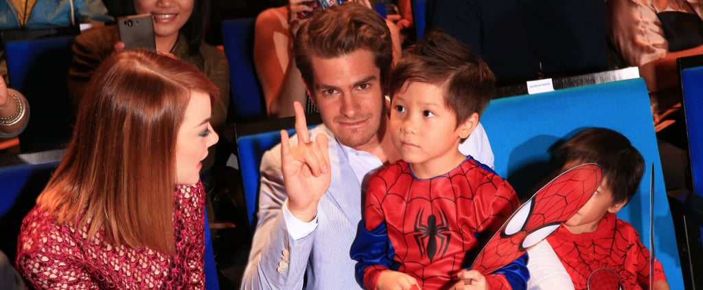 Andrew Garfield and Emma Stone at Singapore Spider-Man Event