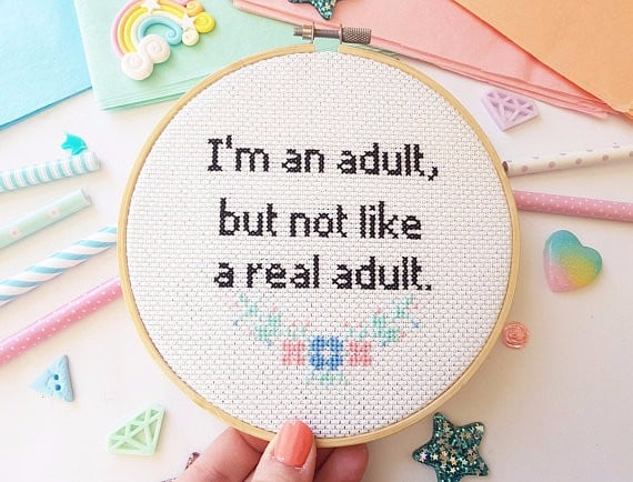 Funny Cross-Stitch Hoops