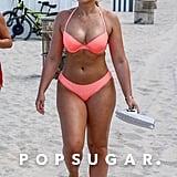 Iskra Lawrence Pink Bikini Miami 2018