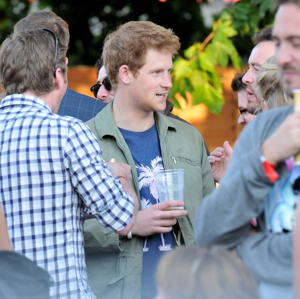 Prince Harry partied with friends at the Wireless Festival in Hyde Park yesterday. He hung out with his cousin Zara Phillips, who is getting married to rugby player Mike Tindall at the end of the month. The Black Eyed Peas kicked off the weekend event with a rocking performance, and The Chemical Brothers took the main stage today. Harry is hanging in England while his brother, Prince William, and Kate Middleton are touring Canada. The couple landed in North America on Thursday and have been on the go ever since. Kate Middleton celebrated Canada Day in a gorgeous white dress and red fascinator on Friday, and this afternoon Prince William and Kate Middleton followed royal tradition by planting a symbolic Eastern Hemlock in Ottawa. The location of the tree was special to William since it was close to the Pin Oak that his parents planted almost 30 years ago.