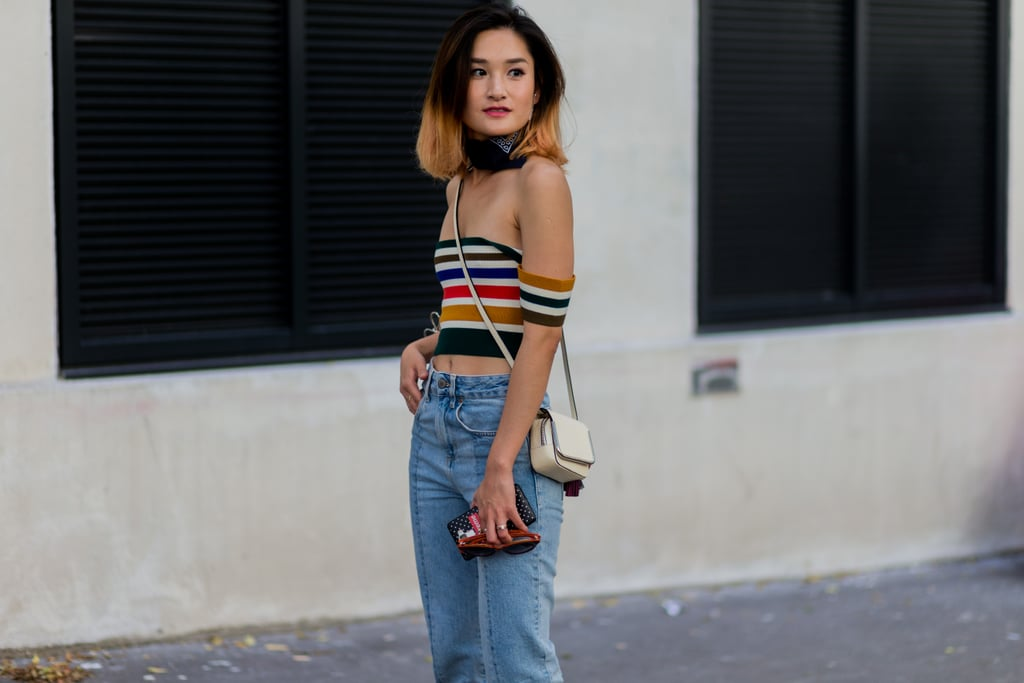 Try Out a Bandana With an Off-the-Shoulder Shirt