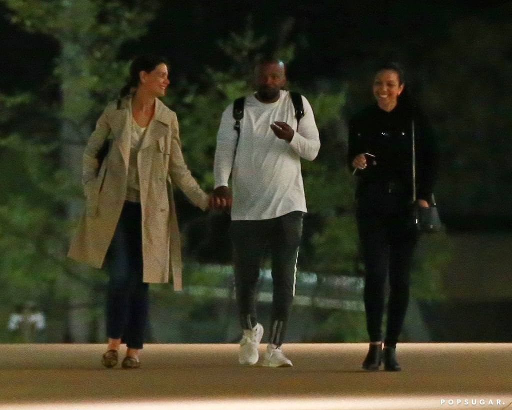 """It's a family affair! Following Katie Holmes and Jamie Foxx's romantic date in NYC, the couple recently returned to LA and linked up with the actor's 25-year-old daughter, Corinne (whom he shares with ex Connie Kline). On Monday, the trio kept things casual as they bonded over dinner and a movie. Katie and Jamie showed some sweet PDA as they held hands and caught up with Corinne, though Katie's 12-year-old daughter, Suri Cruise, and Jamie's other daughter, 9-year-old Annalise Bishop, were noticeably absent.  Despite recent breakup rumours, Katie and Jamie have been quietly dating since 2013, and things seem pretty serious. Not only do they have """"great chemistry,"""" but they're also """"close friends."""" The 40-year-old actress has also reportedly gotten quite close with Jamie's daughters, and Jamie apparently has an """"amazing relationship"""" with Suri. We're happy to see Jamie and Katie have embraced their blended families!      Related:                                                                                                           A Timeline of Katie Holmes and Jamie Foxx's Undercover Love"""