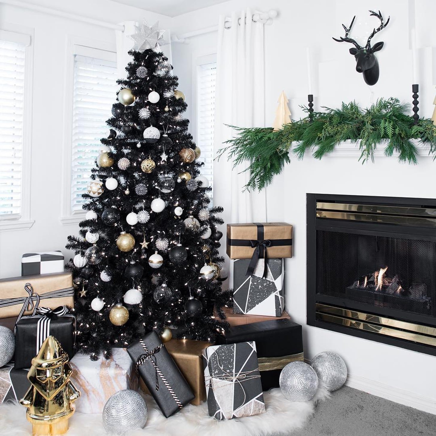 Black Christmas Tree Ideas Popsugar Home