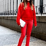 Red on red packed a serious punch, with understated add-ons to finish.