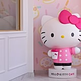A giant Hello Kitty greets visitors.