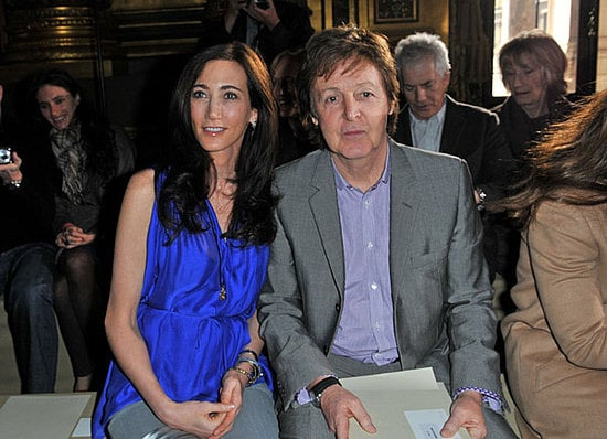 Nancy Shevell And Paul McCartney At Daughter Stella McCartneys Show