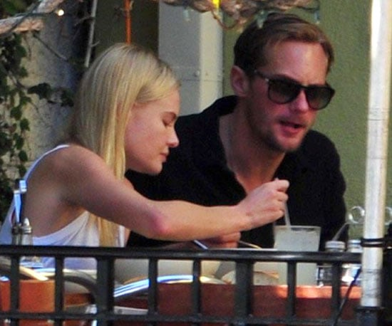 Slide Picture of Kate Bosworth and Alexander Skarsgard Eating Lunch in LA