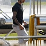 David Beckham returned to the UK for the Olympics.