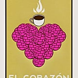 A print made for any true pan dulce-lover's house.  El Corazón de Pan Dulce Screenprint ($38)
