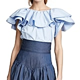 Marc Jacobs Short Sleeve Ruffle Blouse