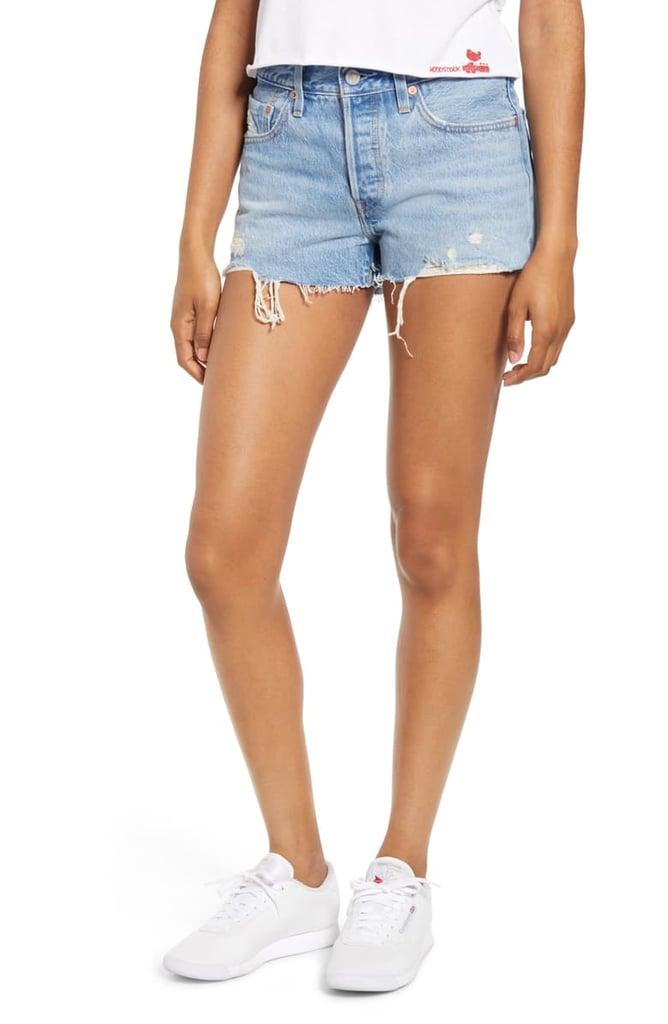 Levi's 501 High Waist Cutoff Denim Shorts