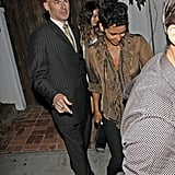 Halle Berry left the Little Door club in West Hollywood.