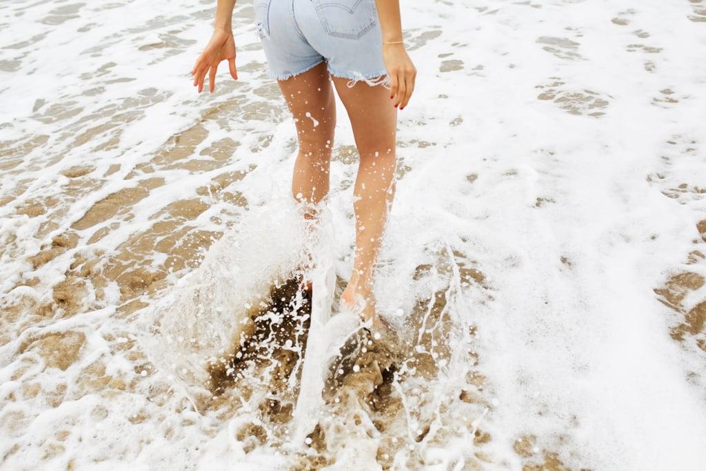 Beach sand as a skin exfoliant.