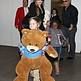 Angelina Jolie in LA With Shiloh and Zahara Pictures