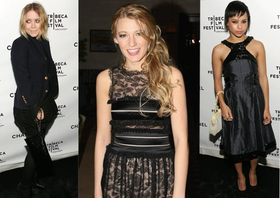 Blake Lively, Mary-Kate Olsen And Zoe Kravitz At The Chanel Dinner At The 2008 Tribeca Film Festival
