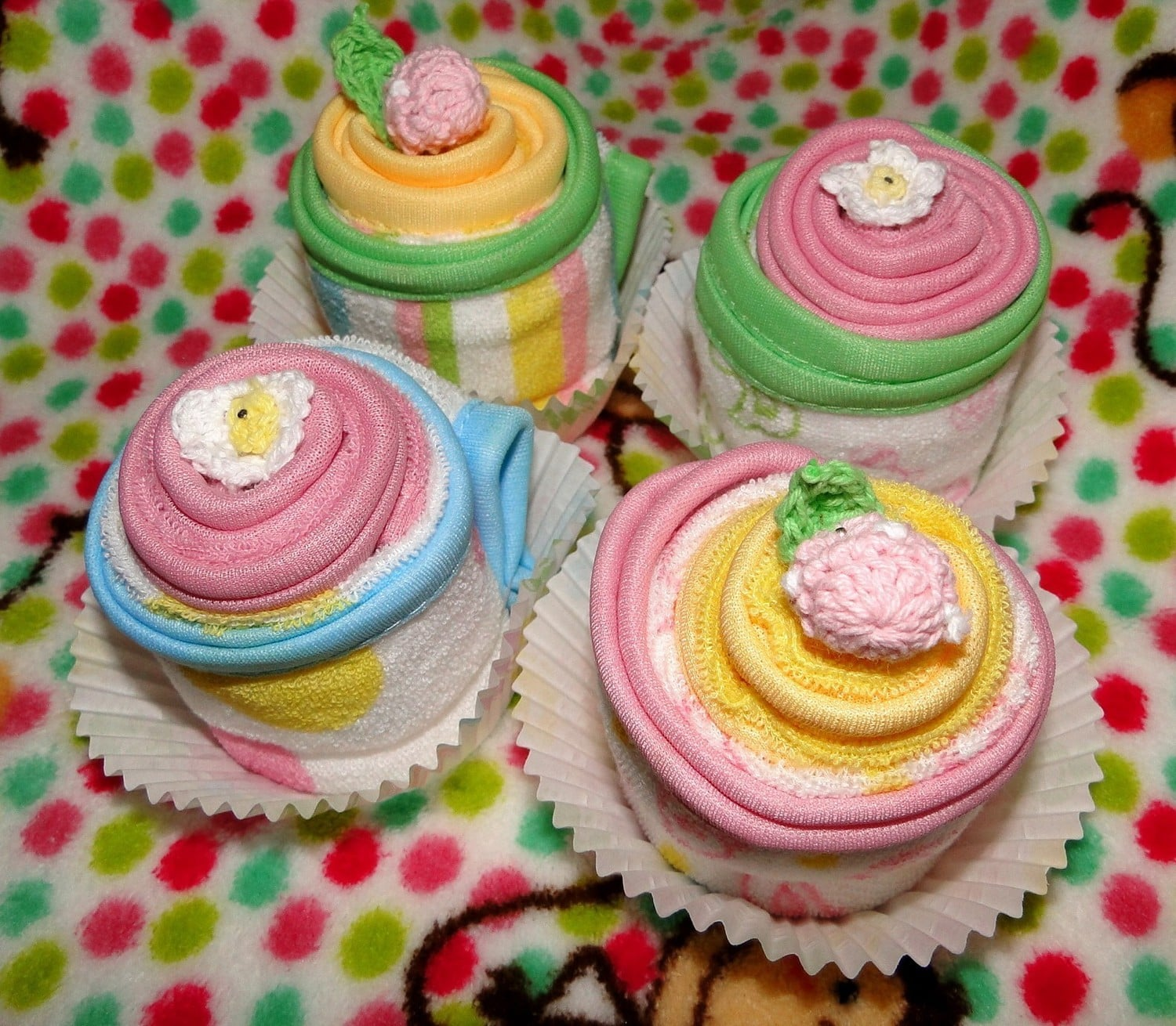 Girly Wash Cloth Cupcakes ($15)