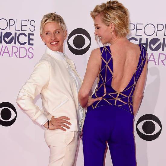 Ellen DeGeneres Portia de Rossi People's Choice Awards 2015