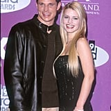 Nick Lachey and Jessica Simpson in 1999