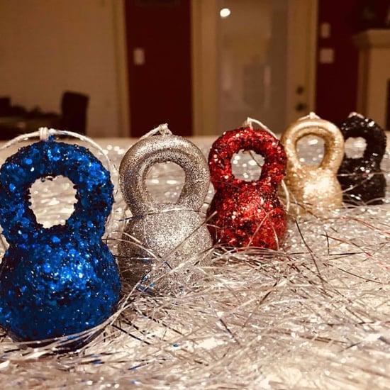 Kettlebell Christmas Tree Ornaments