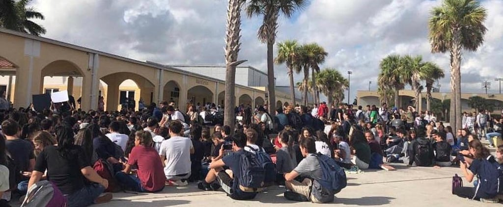 FL Students Stage a 7-Mile Walkout in Support of Parkland Shooting Victims and Survivors