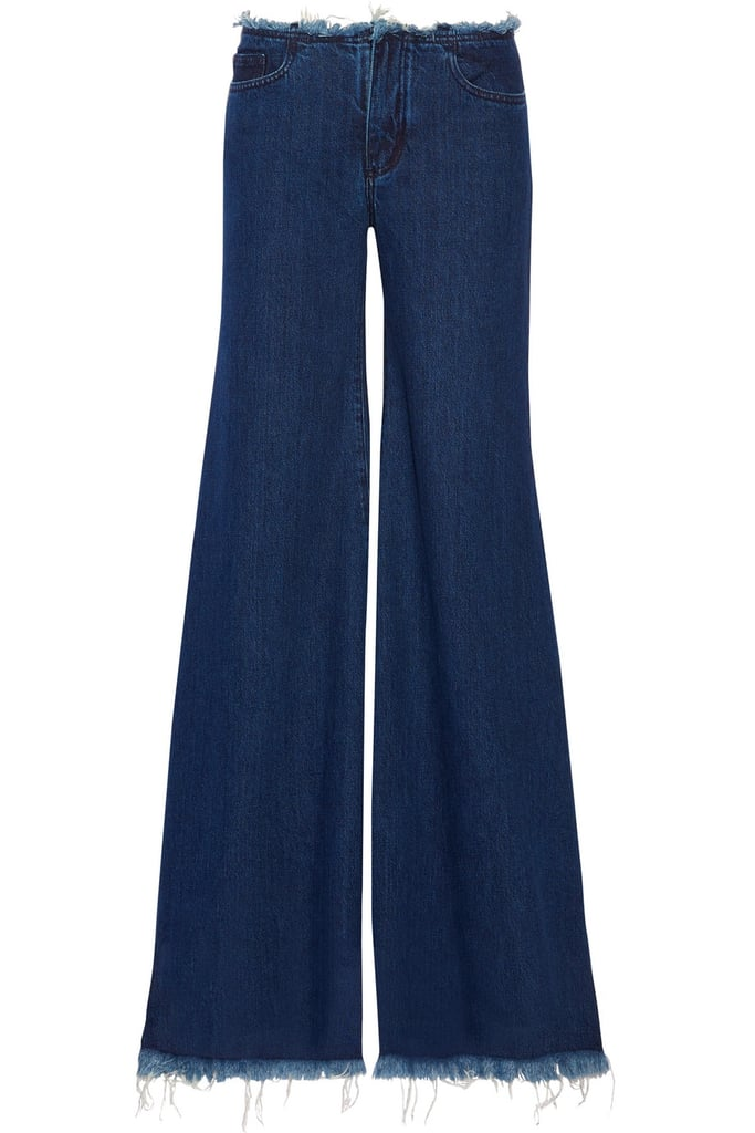 Marques' Almeida Frayed Mid-Rise Wide-Leg Jeans