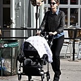 Lily Aldridge walked with daughter Dixie Pearl Followill in NYC.