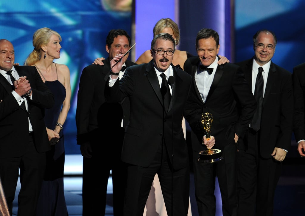 Vince Gilligan accepted the award when Breaking Bad won best drama series.