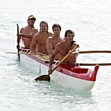 Good looking guys Rande Gerber, Laird Hamilton, and Kid Rock vacationed in Honolulu in December 2006.