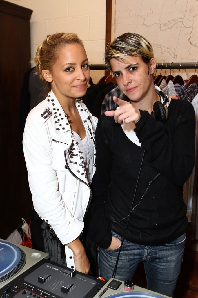 Nicole Richie with Samantha Ronson at If Pockets Could Talk event.