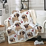 Sleepwish Pug Fleece Blanket