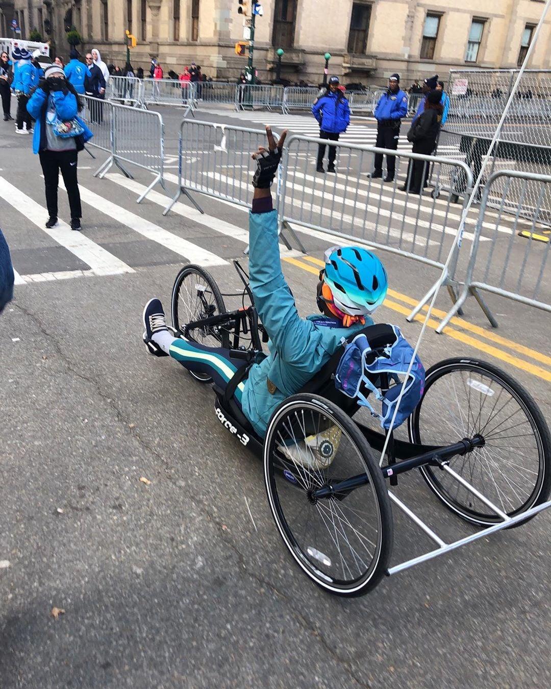 Mama Cax at the New York City Marathon 2019