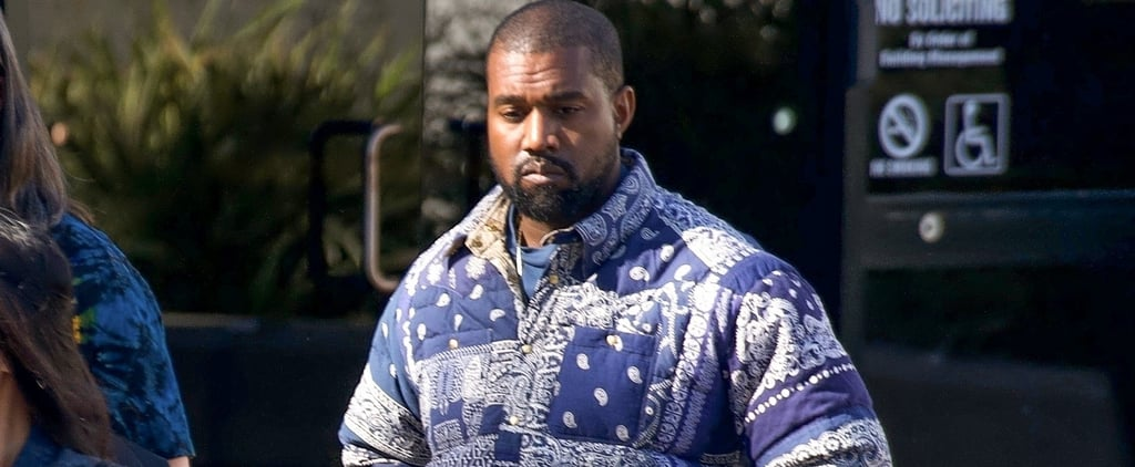 Kanye West's Bandana-Print Visvim Puffer Coat