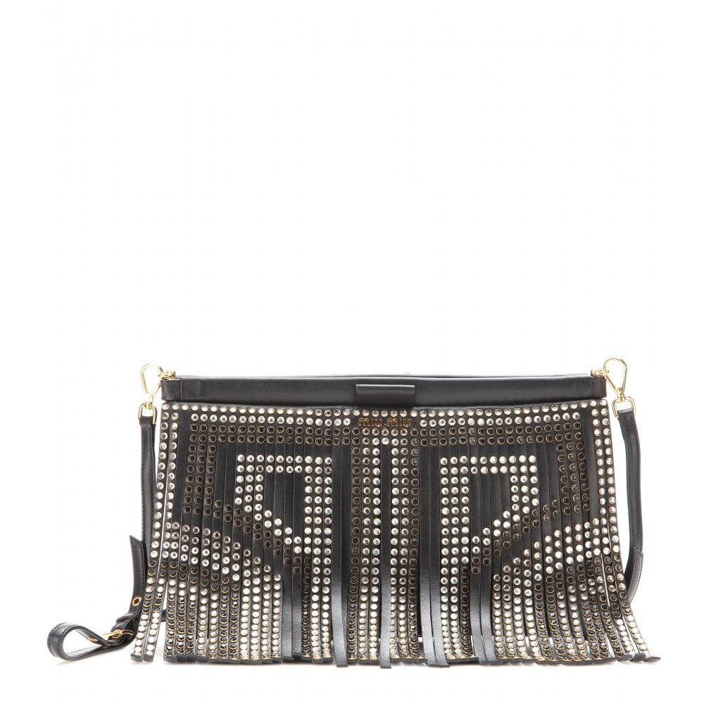 Take her fringed obsession to the next level with this Miu Miu fringed leather clutch ($2,500).