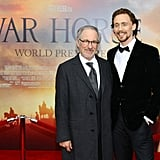 Tom Hiddleston and Steven Spielberg posed at the NYC premiere of War Horse.