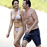 Cindy Crawford and Rande Gerber in St. Barts April 2017