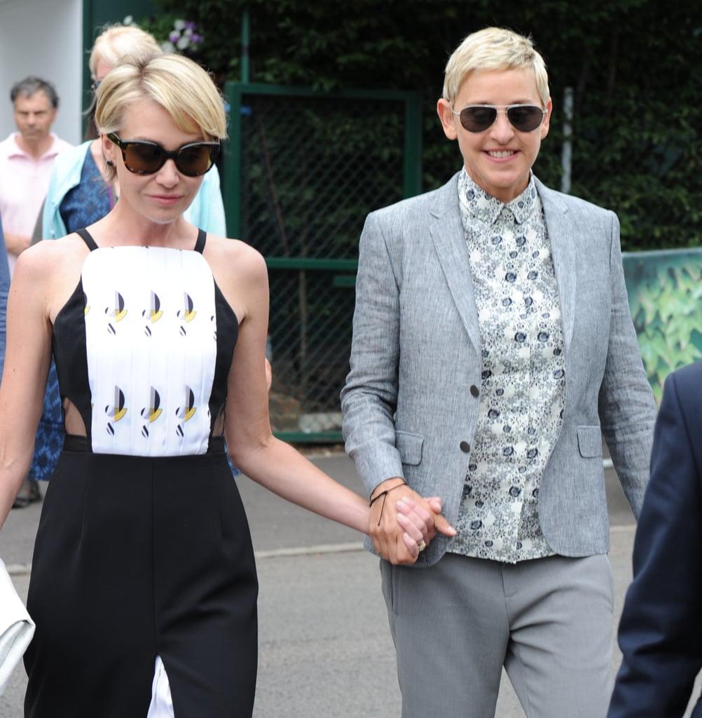 Ellen And Portia Ellen Degeneres And Portia De Rossi At Wimbledon July 2016