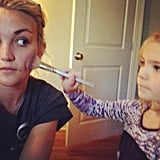"In March 2013, Britney shared this sweet picture of her niece, Maddie Aldridge, doing Britney's sister Jamie Lynn's makeup. ""How cute is this!! Miss these girls."" Britney said of the snap."