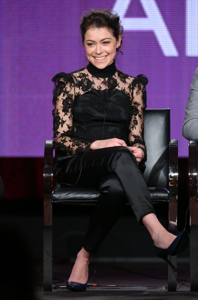 Tatiana Maslany stunned during an Orphan Black panel.
