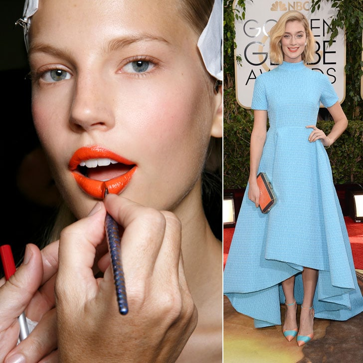 Spring 2014 Fashion and Beauty Trend: Orange and Blue