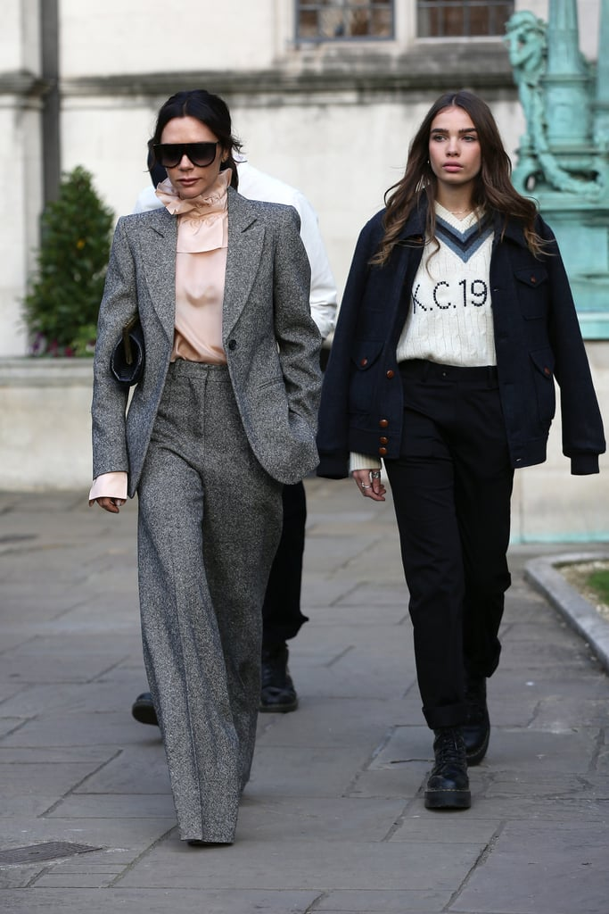Victoria and Hana Arrived to the Kent & Curwen Show in Co-Ord Sets
