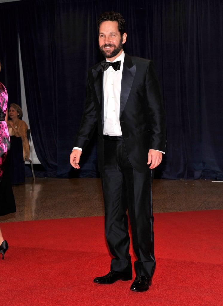 Paul Rudd walked the red carpet at the White House Correspondant's Dinner.