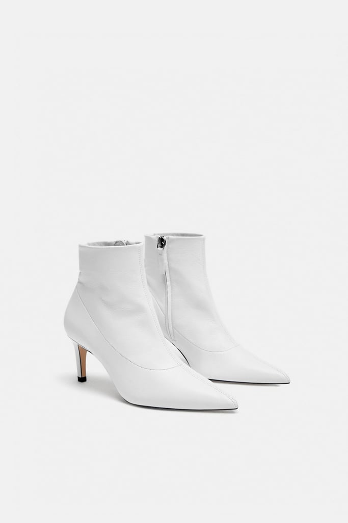 54fe4c28fd1 Zara Leather High-Heel Ankle Boot