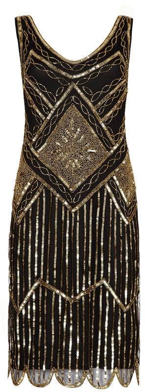 Gatsbylady London Edith Flapper Embellished Dress (£85)
