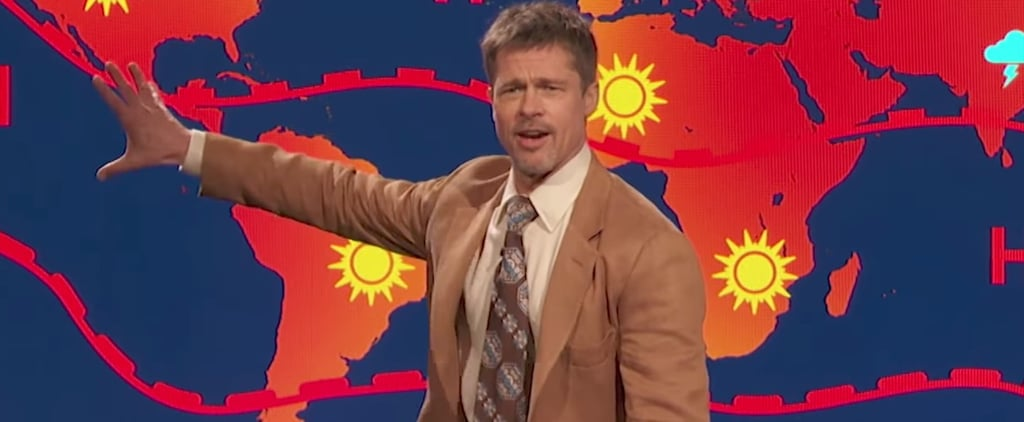 Brad Pitt as Weatherman on Jim Jefferies Show 2017